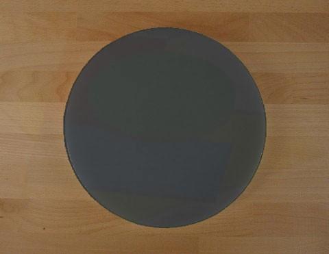 Schneidebrett aus Polyethylen rund durchmeßer 30 cm Schiefer-Effekt schwarz - Stärke 50 mm