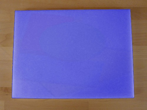 Schneidebrett aus Polyethylen rechteckig 30X40 cm blau - Stärke 50 mm