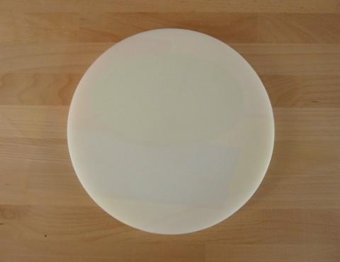 Schneidebrett aus Polyethylen rund durchmeßer 30 cm weiß - Stärke 50 mm