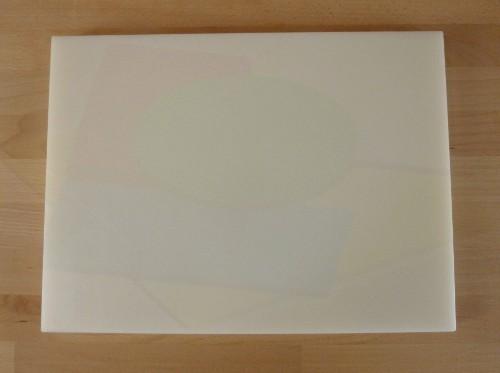 Schneidebrett aus Polyethylen rechteckig 30X40 cm weiß - Stärke 10 mm