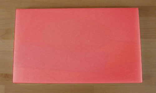 Schneidebrett aus Polyethylen rechteckig 30X50 cm rot - Stärke 10 mm