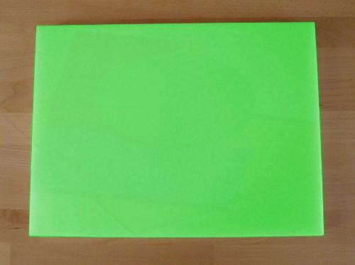 Schneidebrett aus Polyethylen rechteckig 30X40 cm grün - Stärke 10 mm