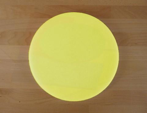 Schneidebrett aus Polyethylen rund durchmeßer 30 cm gelb - Stärke 50 mm