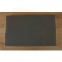 Rechteckiges Schneidebrett aus Polyethylen 50X80 cm Schiefer-Effekt schwarz  - Stärke 10 mm