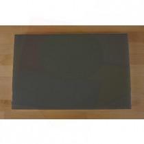 Rechteckiges Schneidebrett aus Polyethylen 40X60 cm Schiefer-Effekt schwarz  - Stärke 10 mm