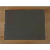 Rechteckiges Schneidebrett aus Polyethylen 30X40 cm Schiefer-Effekt schwarz  - Stärke 10 mm