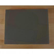 Rechteckiges Schneidebrett aus Polyethylen 40X50 cm Schiefer-Effekt schwarz  - Stärke 10 mm