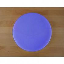 Rundes Schneidebrett aus Polyethylen durchmeßer 30 cm blau  - Stärke 10 mm