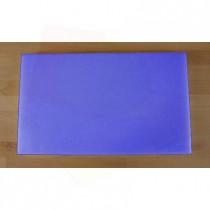 Rechteckiges Schneidebrett aus Polyethylen 30X50 cm blau  - Stärke 20 mm