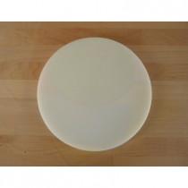 Rundes Schneidebrett aus Polyethylen durchmeßer 30 cm weiß  - Stärke 10 mm