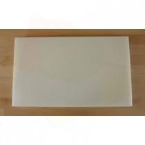 Rechteckiges Schneidebrett aus Polyethylen 30X50 cm weiß  - Stärke 20 mm