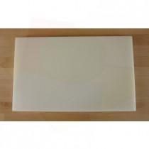 Rechteckiges Schneidebrett aus Polyethylen 50X80 cm weiß  - Stärke 10 mm