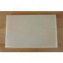 Rechteckiges Schneidebrett aus Polyethylen 40X60 cm weiß  - Stärke 80 mm