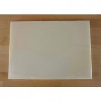 Rechteckiges Schneidebrett aus Polyethylen 50X70 cm weiß  - Stärke 10 mm