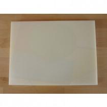 Rechteckiges Schneidebrett aus Polyethylen 30X40 cm weiß  - Stärke 30 mm