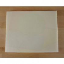 Rechteckiges Schneidebrett aus Polyethylen 40X50 cm weiß  - Stärke 100 mm