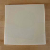 Quadratishes Schneidebrett aus Polyethylen 40X40 cm weiß  - Stärke 10 mm