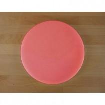 Rundes Schneidebrett aus Polyethylen durchmeßer 30 cm rot  - Stärke 10 mm