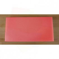 Rechteckiges Schneidebrett aus Polyethylen 40X80 cm rot  - Stärke 10 mm