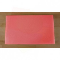 Rechteckiges Schneidebrett aus Polyethylen 30X50 cm rot  - Stärke 20 mm