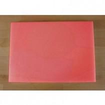 Rechteckiges Schneidebrett aus Polyethylen 50X70 cm rot  - Stärke 10 mm