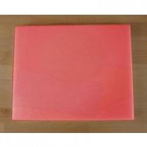 Rechteckiges Schneidebrett aus Polyethylen 40X50 cm rot  - Stärke 10 mm