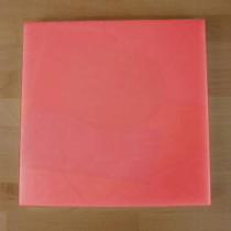 Quadratishes Schneidebrett aus Polyethylen 40X40 cm rot  - Stärke 10 mm