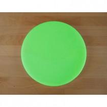 Rundes Schneidebrett aus Polyethylen durchmeßer 30 cm grün  - Stärke 10 mm
