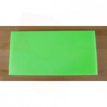 Rechteckiges Schneidebrett aus Polyethylen 40X80 cm grün  - Stärke 10 mm