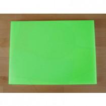 Rechteckiges Schneidebrett aus Polyethylen 30X40 cm grün  - Stärke 25 mm