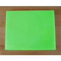 Rechteckiges Schneidebrett aus Polyethylen 40X50 cm grün  - Stärke 15 mm
