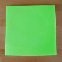 Quadratishes Schneidebrett aus Polyethylen 40X40 cm grün  - Stärke 10 mm
