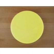 Rundes Schneidebrett aus Polyethylen durchmeßer 30 cm gelb  - Stärke 10 mm