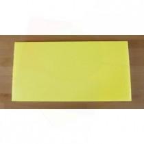 Rechteckiges Schneidebrett aus Polyethylen 40X80 cm gelb  - Stärke 10 mm