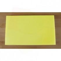 Rechteckiges Schneidebrett aus Polyethylen 30X50 cm gelb  - Stärke 20 mm