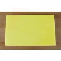 Rechteckiges Schneidebrett aus Polyethylen 50X80 cm gelb  - Stärke 10 mm