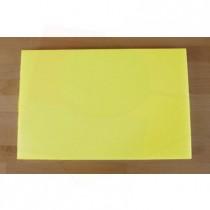 Rechteckiges Schneidebrett aus Polyethylen 40X60 cm gelb  - Stärke 10 mm