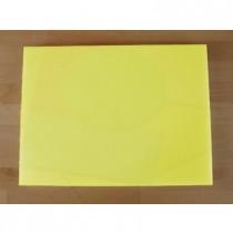 Rechteckiges Schneidebrett aus Polyethylen 30X40 cm gelb  - Stärke 10 mm
