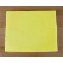 Rechteckiges Schneidebrett aus Polyethylen 40X50 cm gelb  - Stärke 10 mm