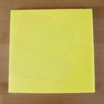 Quadratishes Schneidebrett aus Polyethylen 40X40 cm gelb  - Stärke 10 mm