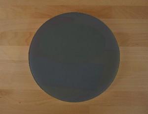 Rundes Schneidebrett aus Polyethylen durchmeßer 30 cm Schiefer-Effekt schwarz  - Stärke 50 mm