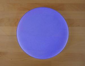 Rundes Schneidebrett aus Polyethylen durchmeßer 30 cm blau  - Stärke 50 mm