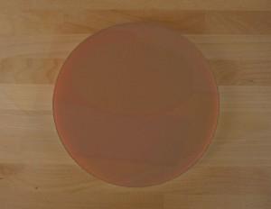 Rundes Schneidebrett aus Polyethylen durchmeßer 30 cm braun  - Stärke 50 mm