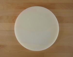 Rundes Schneidebrett aus Polyethylen durchmeßer 30 cm weiß  - Stärke 50 mm