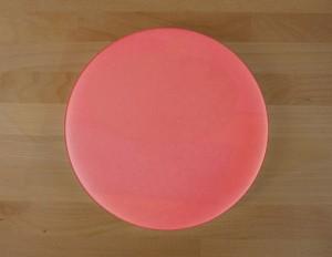 Rundes Schneidebrett aus Polyethylen durchmeßer 30 cm rot  - Stärke 50 mm