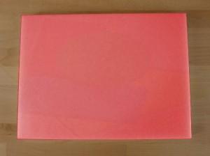 Rechteckiges Schneidebrett aus Polyethylen 30X40 cm rot  - Stärke 50 mm