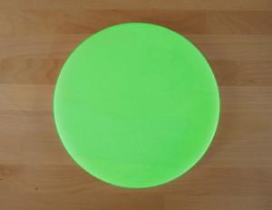 Rundes Schneidebrett aus Polyethylen durchmeßer 30 cm grün  - Stärke 50 mm