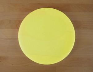Rundes Schneidebrett aus Polyethylen durchmeßer 30 cm gelb  - Stärke 50 mm